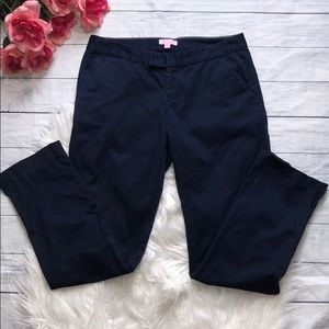Lilly Pulitzer Navy Jet Set Cropped Trouser Pants